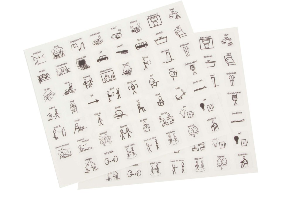 Stickers English text