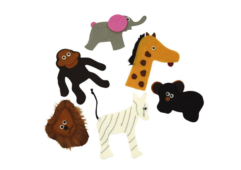 Fingerpuppets vingerpop Zoo Animals