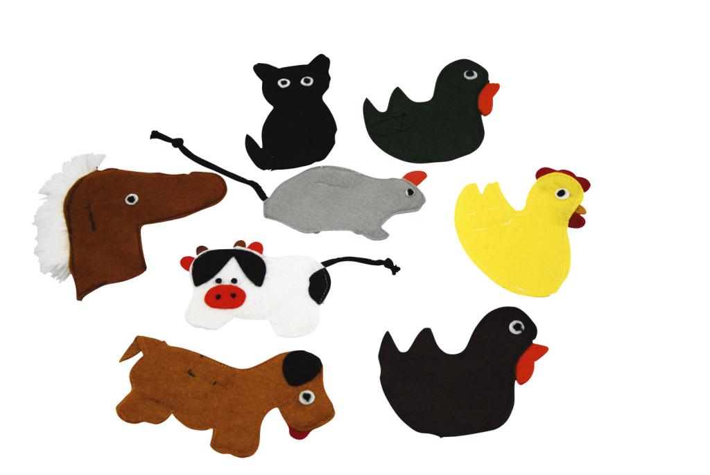 Fingerpuppets vingerpoppen Farm Animals