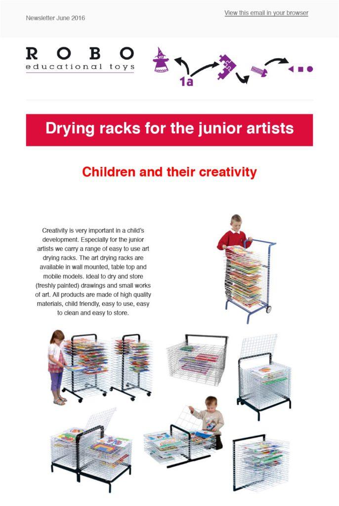 Newsletter June Drying racks